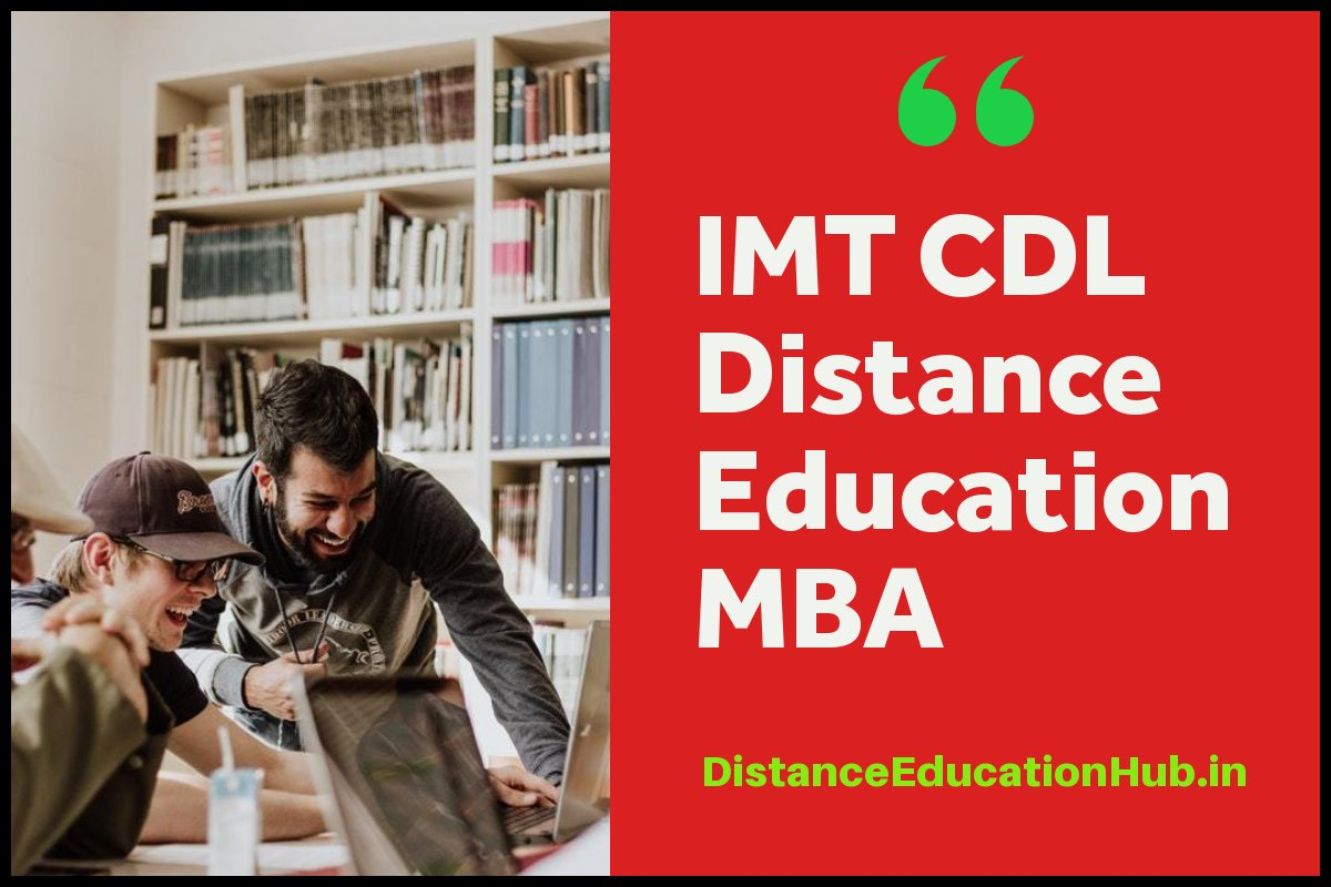 IMT CDL Distance Education MBA